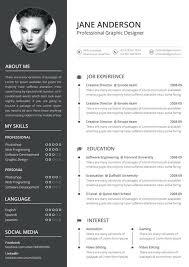 Resume Template Creative Column Resume Layout Creative Resume