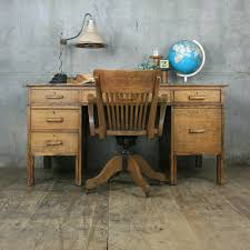 vintage office table. Large Vintage Oak School Teachers Desk Office Table G