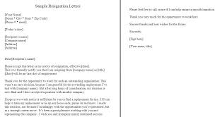 Sample Resignation Letter 2 Weeks Notice New Sample One Week Notice Resignation Letter Template 48 Days Period