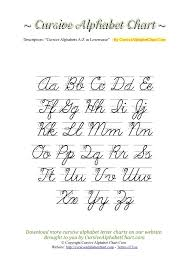 Uppercase Lowercase Cursive Alphabet Charts With Arrows In