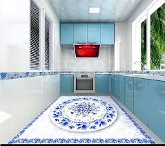 vinyl floor decals custom floor decals blue and white floor murals wear non slip self adhesive vinyl floor tile from reliable floor mural suppliers