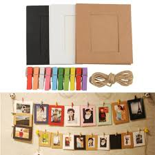 10X Paper Photo Frame DIY Wall Picture Hanging Album Frame Gallery With  Hemp Rope Clips Drop Shipping-in Frame from Home & Garden on Aliexpress.com  ...