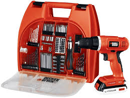 black and decker tools. black \u0026 decker bdc120va100 20-volt max lithium-ion drill kit with 100 accessories and tools b