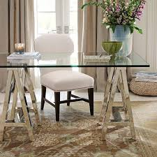 home office glass desks. Posh Classy Elegant Home Office Glass Desk #dream #home For Guide + Advice On Lifestyle, Visit Www.thatdiary.com Desks A
