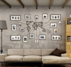 metal world map wall art with picture frames