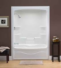 tub showers the home depot canada throughout one piece surround designs 4