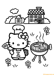 Small Picture Hello Kitty Cooking Coloring Page Free Coloring Pages Online