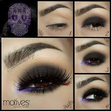 edgy purple and black eyes