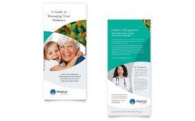 template office doctors office rack card template design