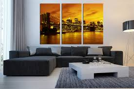 >3 piece canvas art prints city light canvas photography city large  3 piece wall decor city wall art yellow city photo canvas city light