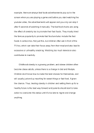 essay what are the causes of childhood obesity for 3 example