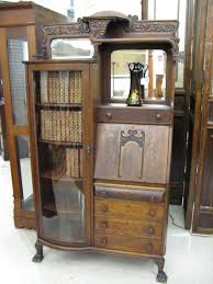 classic secretary desk with hutch and drawer for vintage family room design