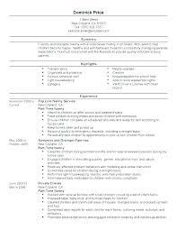 Nanny Resume Skills Amazing Nanny Resume Example Nanny Resume Sample Nanny Resume Job