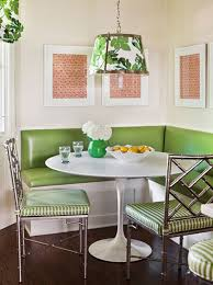 corner breakfast nook furniture contemporary decorations. Breakfast Nooks: Contemporary Meets Retro, Green Upholstery, Metallic Chairs Corner Breakfast Nook Furniture Contemporary Decorations H