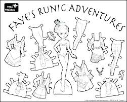 Paper Dolls Coloring Pages Coloring Pro