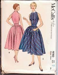 Vintage Sewing Patterns Unique McCalls 48 Vintage 48's Sewing Pattern Ladies Sleeveless Dress