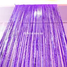 purple party foil shimmer fringed door curtain for party decoration 3ft x 8ft