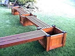 plans for outdoor bench storage deck ideas my planter potting woodworking de planter bench furniture plan house