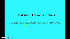 Mla Citation Book With 3 Or More Authors 8th Edition