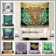 150 130cm polyster wall hanging blankets 70 styles flamingo elephant beach towel home cloth background tapestry mandala home decor blankets background