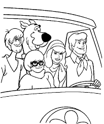 Free Printable Scooby Doo Cartoon Coloring Books For Kids