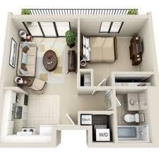 3D Floor Plan Image 2 For The 1 Bedroom Studio Floor Plan Of Property  Viewpointe Small