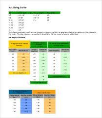 Bat Size Charts 9 Free Word Pdf Documents Download