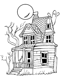 Small Picture Haunted House Halloween Coloring Pages Free Hallowen Coloring