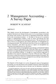 Management Accounting     A Survey Paper   Springer