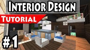 minecraft modern house interior design tutorial part 1 1 8 how to make you