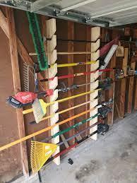 yard tool rack garden tool rack shed