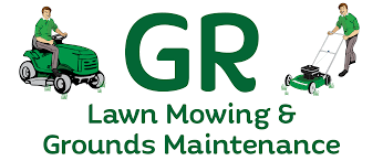 lawn mower logo png. g r lawn mowing and grounds maintenance mower logo png