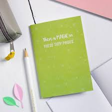 there is magic in these tiny pages notebook