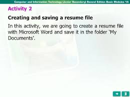 In this activity, we are going to create a resume file with Microsoft Word  and