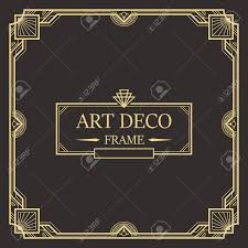 Art Deco Border Designs Art Deco Border And Frame Creative Template In Style Of 1920s