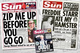 The fresh ink on your fingers, the smell of newsprint, and of course, the occasional bizarre and (unintentionally) funny newspaper headlines. Celebrating The Sun S Fifty Greatest Ever Front Pages As Britain S Favourite Paper Turns 50