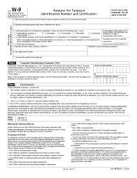 w 9 fillable form 2017 w 9 request for taxpayer identification number and certification pdf