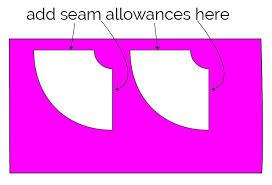 how to sew a circle skirt tutorial cut four segmentss