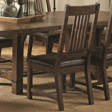 padima rustic leather dining side chair set of 2