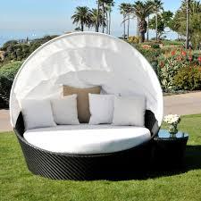 round wicker porch swing bed
