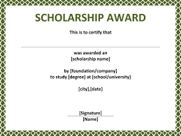 scholarship award certificate templates scholarship certificates templates template business