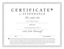 Best Photos Of Sample Certificate Of Attendance Template On Se4all