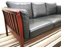 scandinavian leather furniture. scandinavian modern rosewood and black leather sofa 3 furniture f
