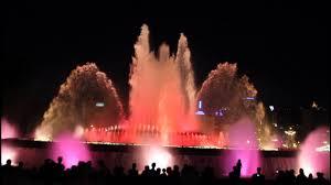 Light Show Fountain Barcelona Montjuic Magic Fountain Barcelona