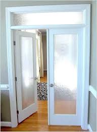 custom interior french doors frosted glass effectively with door panels ideas