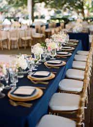 Blue And Gold Table Setting Ten Most Gorgeous Navy Blue Wedding Color Palette Ideas For 2016