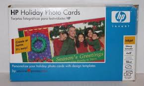 American Greetings Templates Printer Holiday Photo Cards Genuine Hp 4x8 40 Set 10mil