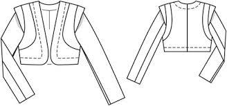 Bolero Jacket Pattern Enchanting Bolero Jacket 4848 48 Sewing Patterns BurdaStyle