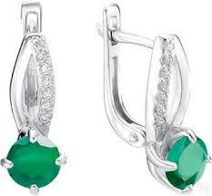 Купить серебряные <b>серьги</b> бренд <b>Алькор</b> коллекции 2020 года в ...