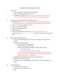 Research Paper Terms Rough Outline Example For Research Paper